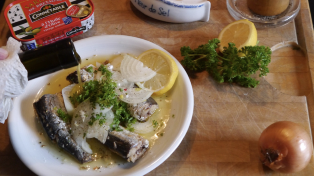 Sardinen Teller